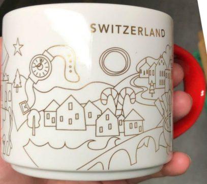 Starbucks You Are Here Christmas Switzerland mug
