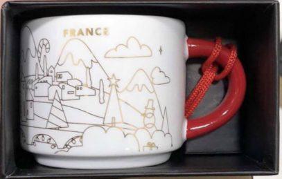 Starbucks You Are Here Ornament Christmas France mug