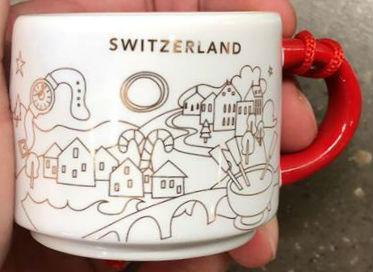 Starbucks You Are Here Ornament Christmas Switzerland mug