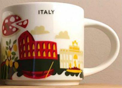 You Are Here Italy Starbucks Mugs