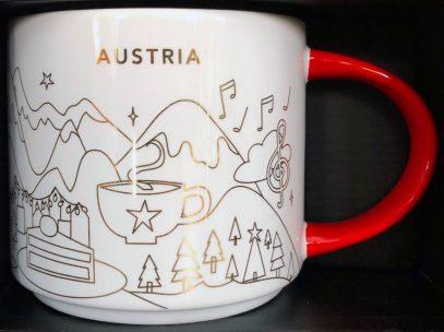 Starbucks You Are Here Christmas Austria mug