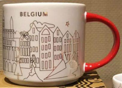 Starbucks You Are Here Christmas Belgium mug