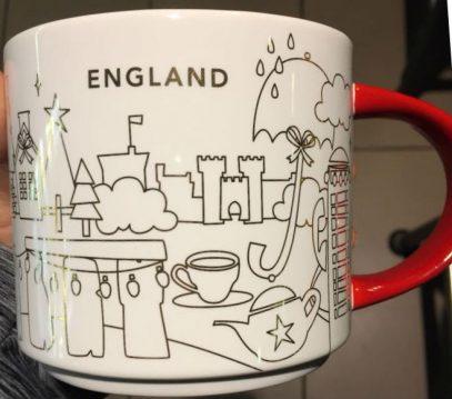 England Starbucks Mugs