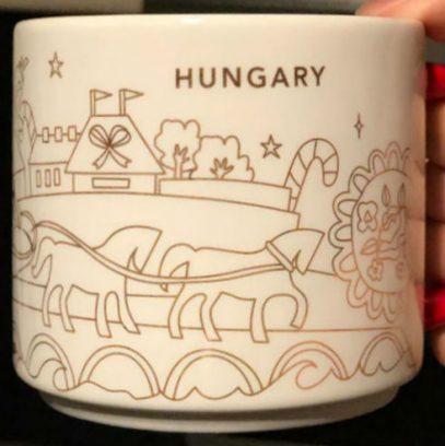 Starbucks You Are Here Christmas Hungary mug