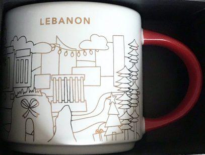 Starbucks You Are Here Christmas Lebanon mug