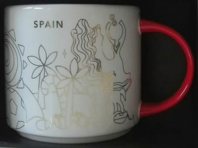 Starbucks You Are Here Christmas Spain mug
