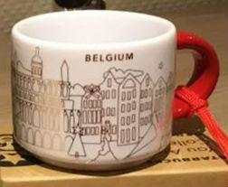 Starbucks You Are Here Ornament Christmas Belgium mug