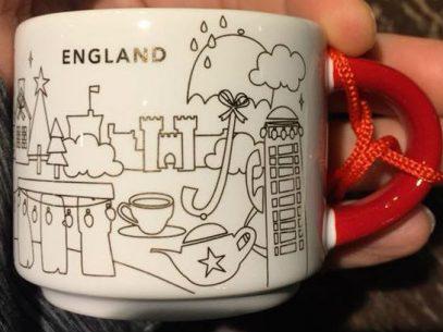 Starbucks You Are Here Ornament Christmas England mug