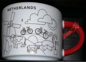 Starbucks You Are Here Ornament Christmas Netherlands mug