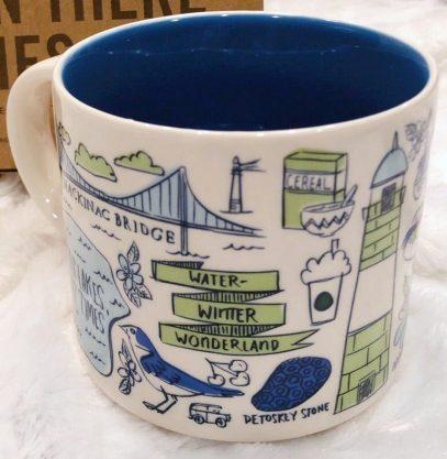 Starbucks Been There Michigan 2 mug