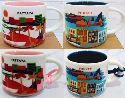 Starbucks Pattaya and Phuket mugs and ornaments official release mug