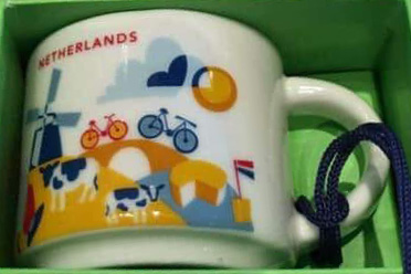 Starbucks You Are Here Ornament Netherlands mug