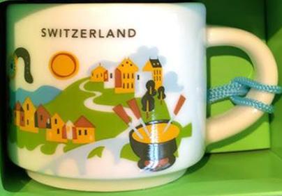 Starbucks You Are Here Ornament Switzerland mug