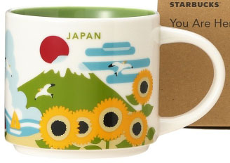 You Are Here Japan 4 Summer Collection Starbucks Mugs