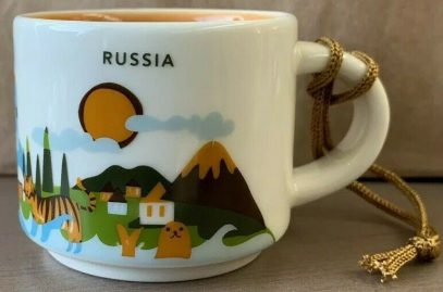 Starbucks You Are Here Ornament Russia mug