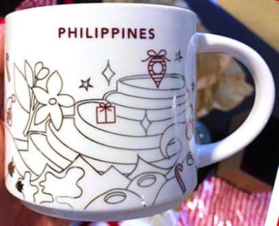 Starbucks You Are Here Christmas Philippines 3 mug