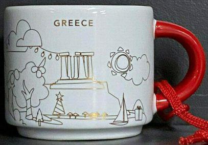 Starbucks You Are Here Ornament Christmas Greece mug