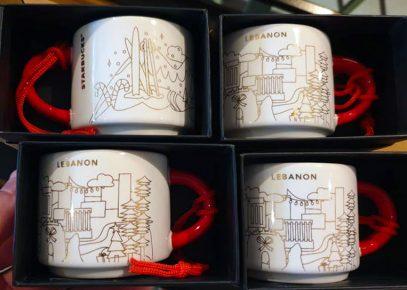 Starbucks You Are Here Ornament Christmas Lebanon mug