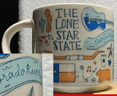 Starbucks Been There Texas 2 mug