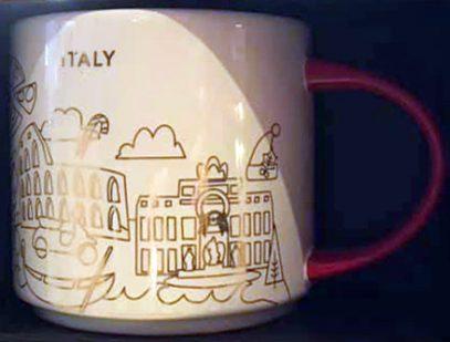 Starbucks You Are Here Christmas Italy mug