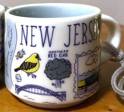 Starbucks Been There Ornament New Jersey 2 mug