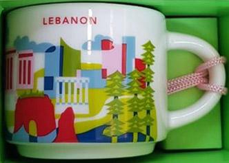 Starbucks You Are Here Ornament Lebanon mug