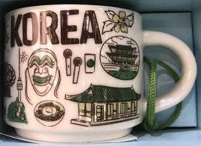 Starbucks Been There Ornament Korea mug