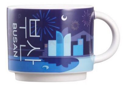 Starbucks Real Korea City Demi Busan (fireworks) mug