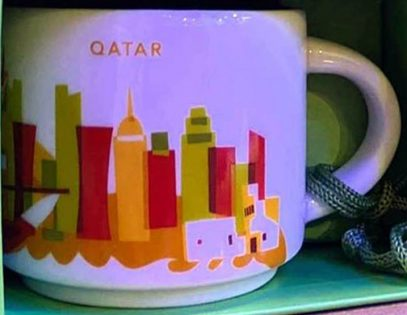 Starbucks You Are Here Ornament Qatar mug
