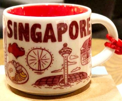 Starbucks Been There Ornament Singapore mug