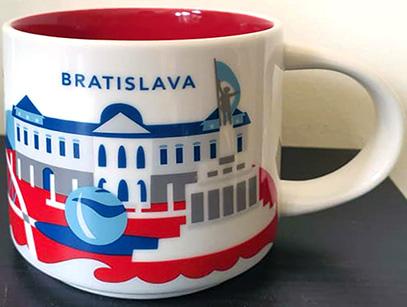 Starbucks Mug SLOVAKIA Icon version 2 Bratislava Castle DISCONTINUED 16 fl oz