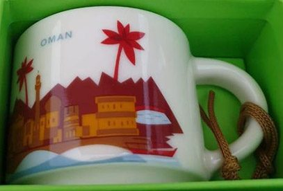 Starbucks You Are Here Ornament Oman mug