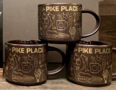Starbucks Been There Christmas Pike Place 2 mug