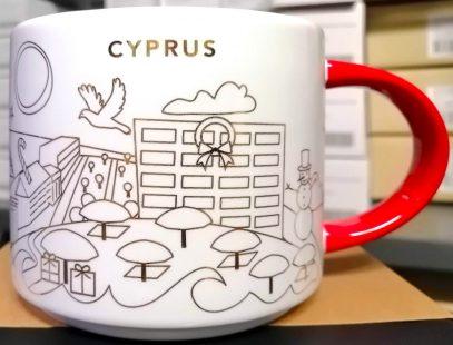 Starbucks You Are Here Christmas Cyprus mug