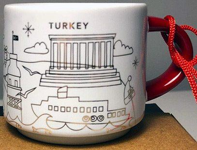 Starbucks You Are Here Ornament Christmas Turkey mug