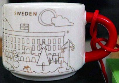 Starbucks You Are Here Ornament Christmas Sweden mug