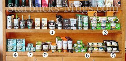 Starbucks Unique mugs selection in Starbucks stores in Vietnam mug