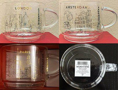 Starbucks You Are Here Christmas 2020 Glass Mugs mug