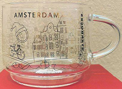 Starbucks You Are Here Christmas Glass Amsterdam mug