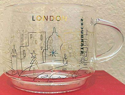 Starbucks You Are Here Christmas Glass London mug