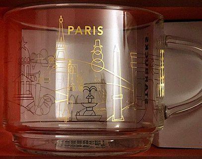 Starbucks You Are Here Christmas Glass Paris mug